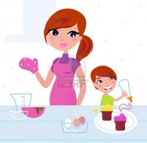 10047688-mamma-e-figlio-cookies-compleanno-di-cottura-illustrazione-vettoriale